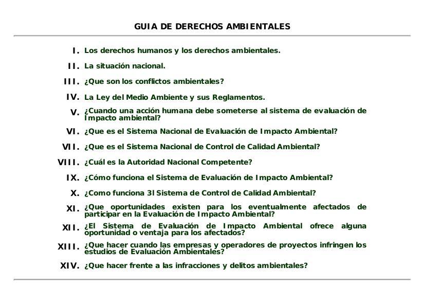 Guía de Derechos Ambientales